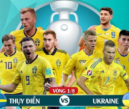 Lịch thi đấu Euro ngày 30/6: Thụy Điển vs Ukraine