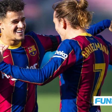 Barcelona giữ lại bộ đôi Coutinho và Griezmann