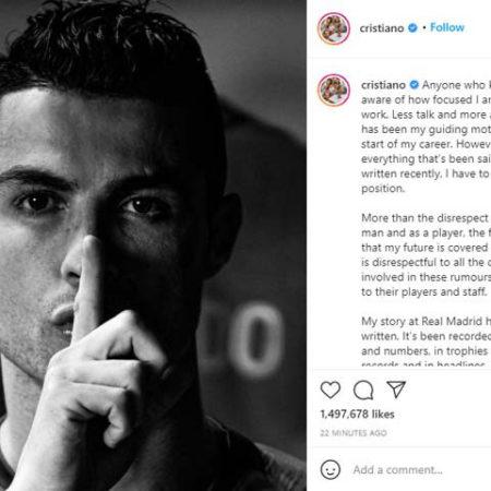 Ronaldo chính thức lên tiếng về tin đồn chuyển nhượng