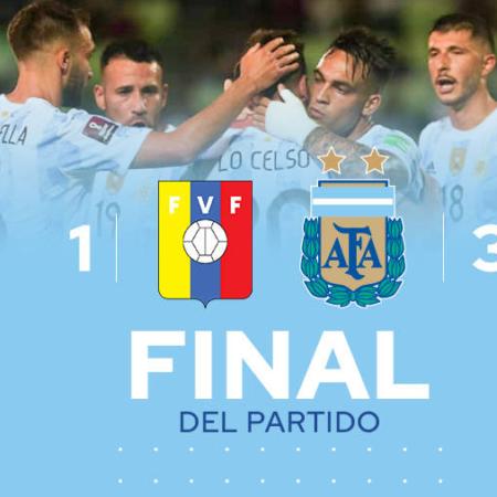 Kết quả vòng loại World Cup: Venezuela 1-3 Argentina
