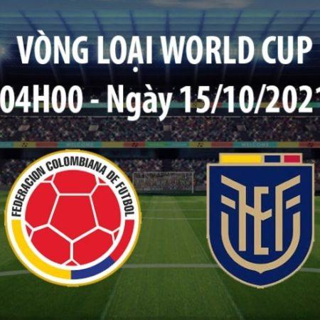 Colombia vs Ecuador – 4h00 ngày 15/10