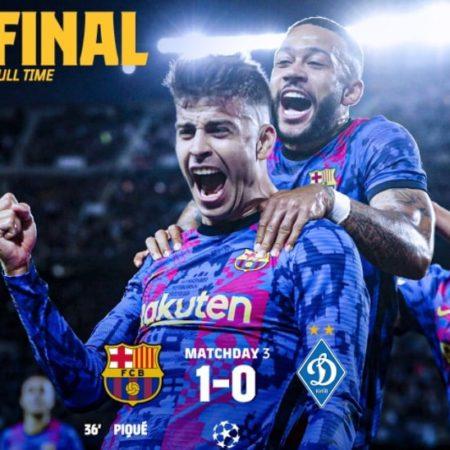 Pique tỏa sáng giúp Barca có được chiến thắng đầu tiên tại Cúp C1